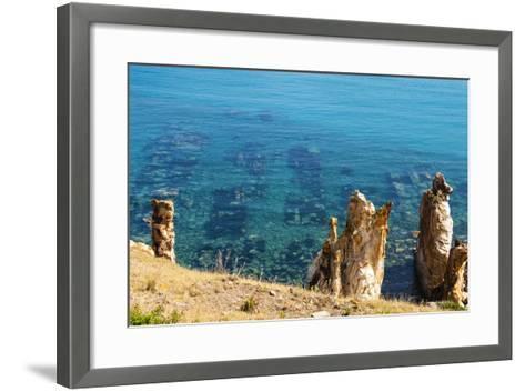 Ruins Underwater of Roman Houses, Les Aiguilles, Tabarka, Tunisia, North Africa-Nico Tondini-Framed Art Print
