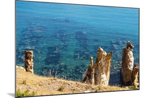 Ruins Underwater of Roman Houses, Les Aiguilles, Tabarka, Tunisia, North Africa-Nico Tondini-Mounted Photographic Print