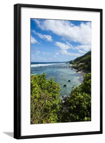 East Coast of Tutuila Island, American Samoa, South Pacific-Michael Runkel-Framed Art Print