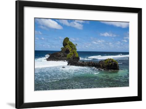 East Coast of Tutuila Island, American Samoa, South Pacific-Michael Runkel-Framed Art Print