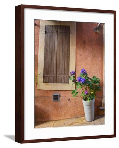 France, Provence, Roussillon, Town Scene of Colorful French Hillside Town-Terry Eggers-Framed Art Print