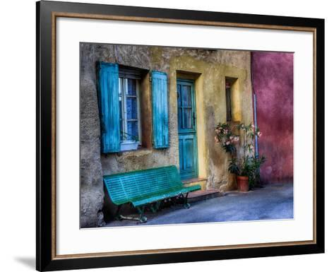 France, Provence, Roussillon, Colorful House in Roussillon-Terry Eggers-Framed Art Print