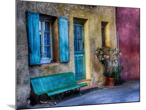 France, Provence, Roussillon, Colorful House in Roussillon-Terry Eggers-Mounted Photographic Print