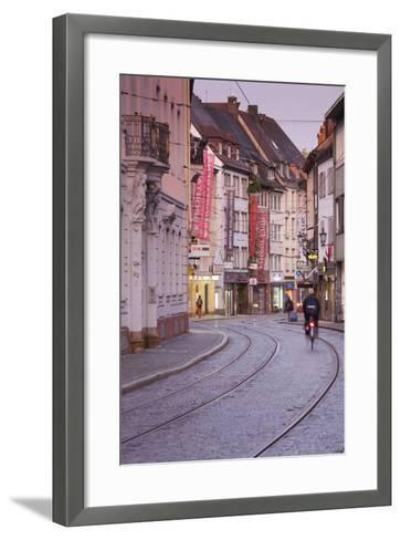 Baden-Wurttemburg, Black Forest, Old Town, Salzstrasse at Dawn-Walter Bibikow-Framed Art Print