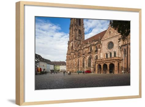 Baden-Wurttemburg, Black Forest, Old Town, 11th Century Munster Cathedral-Walter Bibikow-Framed Art Print