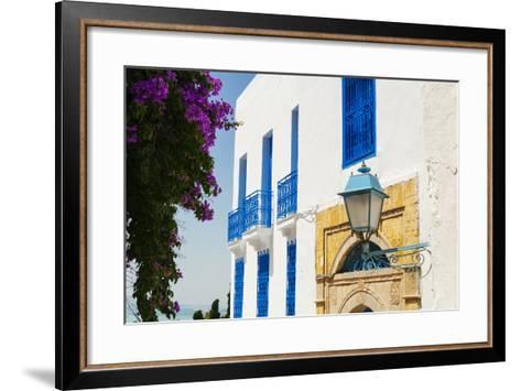 Balcony and Window, Sidi Bou Said, Tunisia, North Africa-Nico Tondini-Framed Art Print
