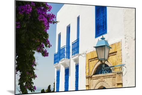 Balcony and Window, Sidi Bou Said, Tunisia, North Africa-Nico Tondini-Mounted Photographic Print