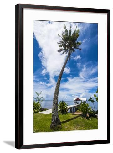 Boat Pier in the North of the Island of Babeldaob, Palau, Central Pacific-Michael Runkel-Framed Art Print