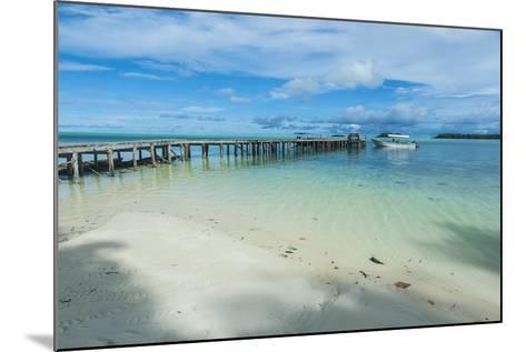Boat Pier on Carp Island, One of the Rock Islands, Palau, Central Pacific-Michael Runkel-Mounted Photographic Print