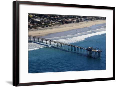 USA, California, San Diego. Scripps Pier, La Jolla Shores-Kymri Wilt-Framed Art Print