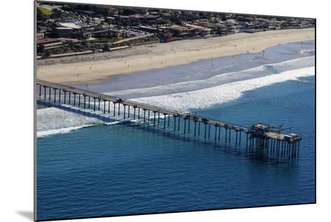 USA, California, San Diego. Scripps Pier, La Jolla Shores-Kymri Wilt-Mounted Photographic Print