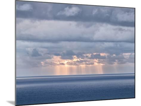 USA, California, San Diego. Sun's Rays Break Through Clouds over Pacific Ocean-Ann Collins-Mounted Photographic Print