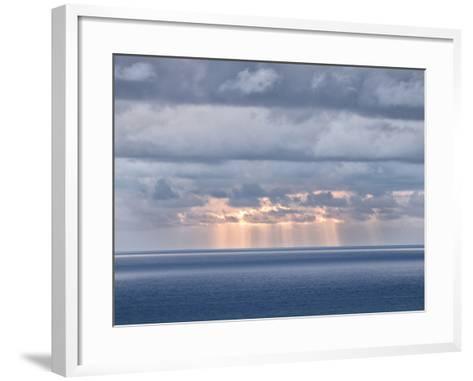 USA, California, San Diego. Sun's Rays Break Through Clouds over Pacific Ocean-Ann Collins-Framed Art Print