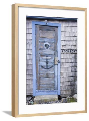 USA, Massachusetts, Cape Ann, Rockport, Fishing Shack-Walter Bibikow-Framed Art Print