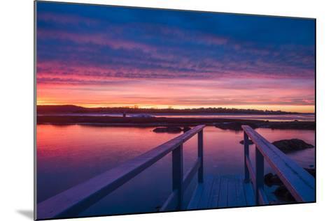 USA, Massachusetts, Cape Ann, Gloucester, Sunset on the Annisquam River-Walter Bibikow-Mounted Photographic Print