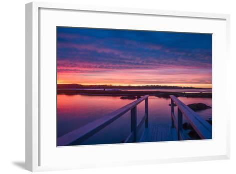 USA, Massachusetts, Cape Ann, Gloucester, Sunset on the Annisquam River-Walter Bibikow-Framed Art Print