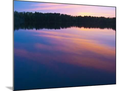 Canada, Ontario, Quetico Park, Lake Agnes Sunset Wilderness, Pink Sunset-Bernard Friel-Mounted Photographic Print