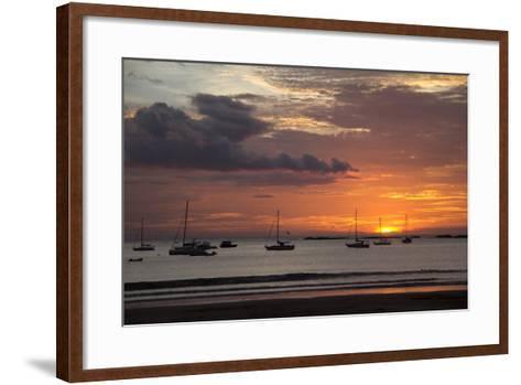 Central America, Nicaragua. Sunset at San Juan Del Sur Harbor-Kymri Wilt-Framed Art Print