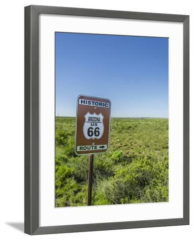 Historic Old Route 66 Passed Through Petrified Forest National Park, Az-Jerry Ginsberg-Framed Art Print