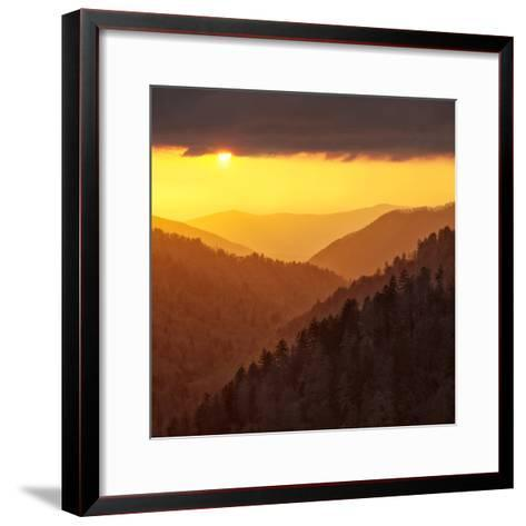 Sunset Light Reflected by Clouds Fills Valley with Warm Light-Ann Collins-Framed Art Print