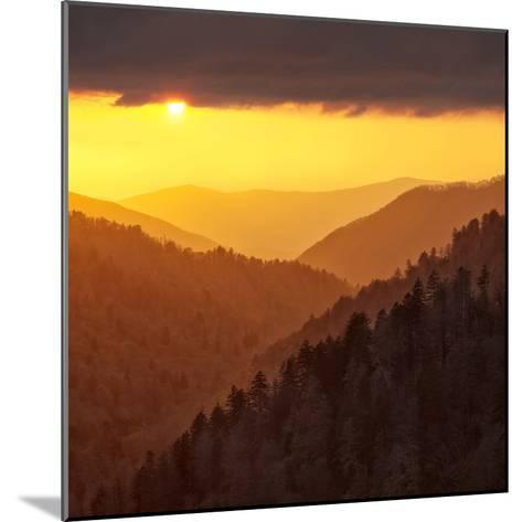 Sunset Light Reflected by Clouds Fills Valley with Warm Light-Ann Collins-Mounted Photographic Print