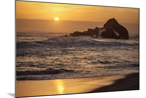 USA, California, Big Sur. Sunset and Splashes at Pfeiffer Beach-Ann Collins-Mounted Photographic Print