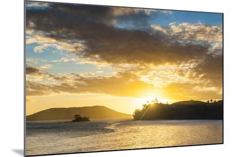 Sunset over the Beach, Nacula Island, Yasawa, Fiji, South Pacific-Michael Runkel-Mounted Photographic Print