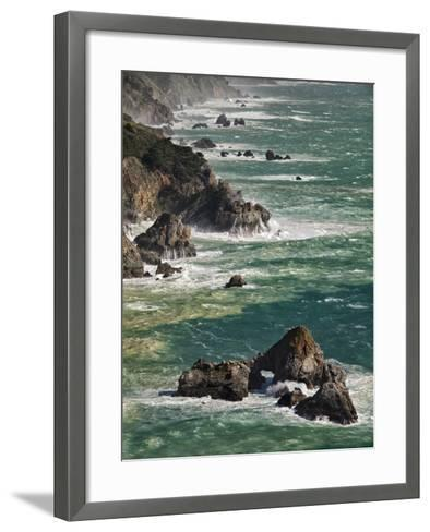 USA, California, Big Sur. Waves Hit Coast and Rocks-Ann Collins-Framed Art Print