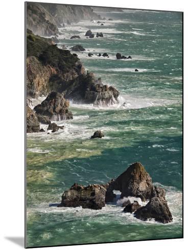 USA, California, Big Sur. Waves Hit Coast and Rocks-Ann Collins-Mounted Photographic Print