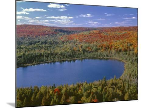 USA, Minnesota, Superior National Forest, Fall Colored Northern Hardwood Forest and Oberg Lake-John Barger-Mounted Photographic Print