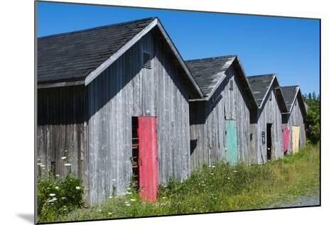 Canada, Prince Edward Island, Prim Point Graphic Beauty of Stacked Lobster Fish Houses-Bill Bachmann-Mounted Photographic Print