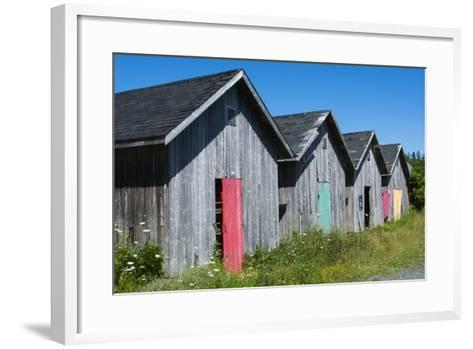 Canada, Prince Edward Island, Prim Point Graphic Beauty of Stacked Lobster Fish Houses-Bill Bachmann-Framed Art Print