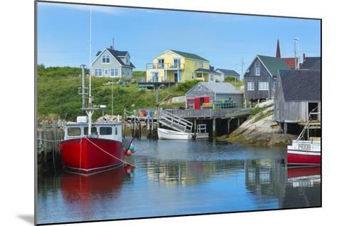 Canada, Peggy's Cove, Nova Scotia, Peaceful and Quiet Famous Harbor with Boats and Homes in Summer-Bill Bachmann-Mounted Photographic Print