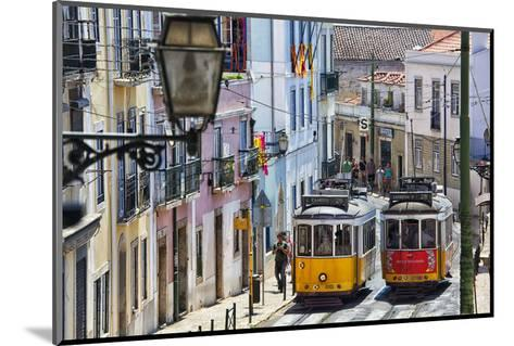 Portugal, Lisbon. Famous Old Lisbon Cable Car-Terry Eggers-Mounted Photographic Print