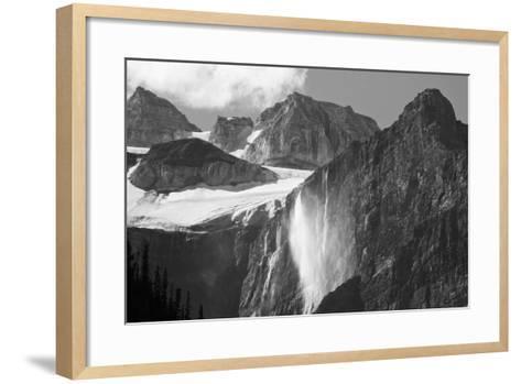 Glacial Waterfall, Rocky Mountains, Moraine Lake Area, Banff National Park, Alberta, Canada-Michel Hersen-Framed Art Print
