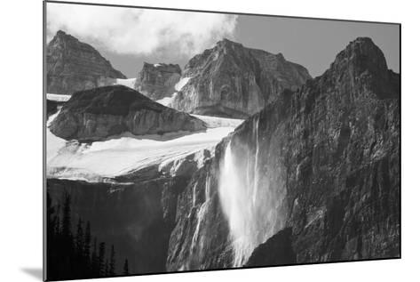 Glacial Waterfall, Rocky Mountains, Moraine Lake Area, Banff National Park, Alberta, Canada-Michel Hersen-Mounted Photographic Print