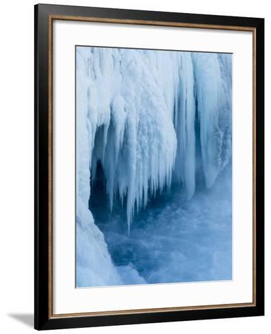 Godafoss Waterfall of Iceland During Winter-Martin Zwick-Framed Art Print