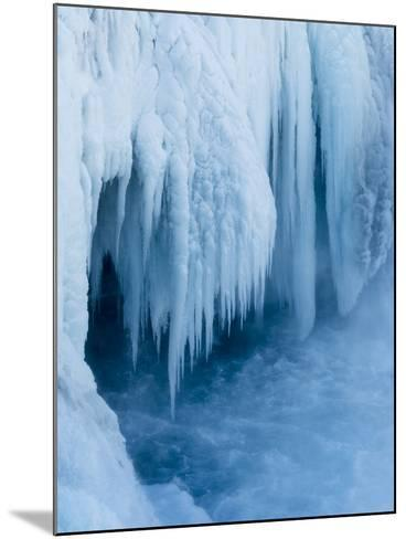 Godafoss Waterfall of Iceland During Winter-Martin Zwick-Mounted Photographic Print