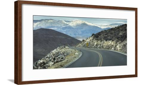 Road with Curve Leading Through Mountains into Death Valley, California-Sheila Haddad-Framed Art Print