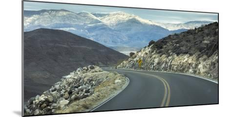 Road with Curve Leading Through Mountains into Death Valley, California-Sheila Haddad-Mounted Photographic Print