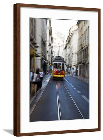 Portugal, Lisbon. Famous Old Lisbon Cable Car-Terry Eggers-Framed Art Print