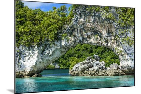 Rock Arch in the Rock Islands, Palau, Central Pacific-Michael Runkel-Mounted Photographic Print