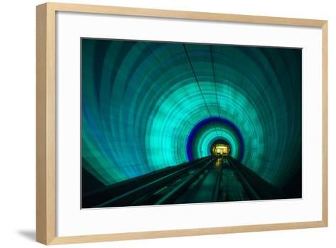 Singapore. Colorful Railroad Tunnel under a River-Jaynes Gallery-Framed Art Print