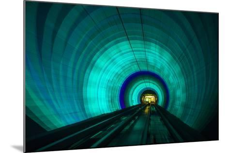 Singapore. Colorful Railroad Tunnel under a River-Jaynes Gallery-Mounted Photographic Print