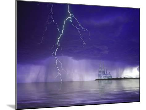 Composite of Fantasy Cathedral, Lightning and Water-Jaynes Gallery-Mounted Photographic Print