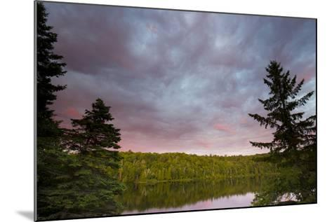 Canada, Quebec, Lake Long Pond. Sunset on Lake and Forest-Jaynes Gallery-Mounted Photographic Print
