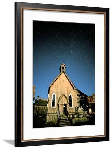 Barkerville at Night. Barkerville Historic Town, Cariboo, British Columbia, at Night-Richard Wright-Framed Art Print