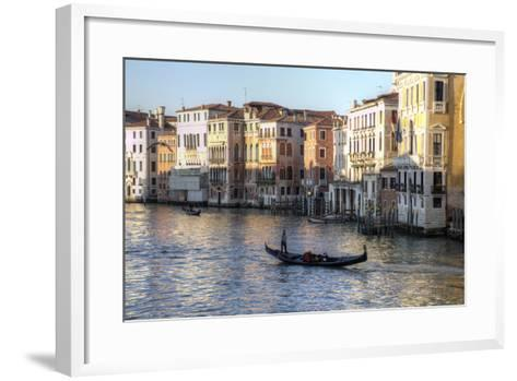 Gondolas Along the Grand Canal, Venice, Italy-Darrell Gulin-Framed Art Print