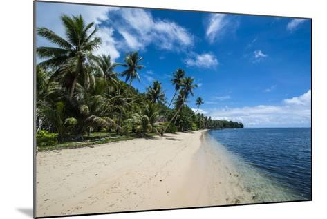 Beautiful White Sand Beach and Palm Trees on the Island of Yap, Micronesia-Michael Runkel-Mounted Photographic Print