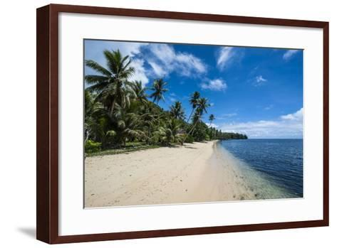 Beautiful White Sand Beach and Palm Trees on the Island of Yap, Micronesia-Michael Runkel-Framed Art Print